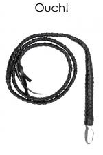 Fouet Twisted Whip - Ouch! : Magnifique fouet tressé en cuir reconstitué, longueur 194 cm, marque Ouch!.