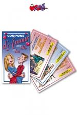 Coupons d'Amour : 5 coupons d'amour pour elle et 5 pour lui, pour offrir des faveurs coquines à votre partenaire.